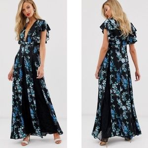 NEW ASOS | Floral Print Maxi Lace Inserts 6